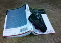 Book and cellphone