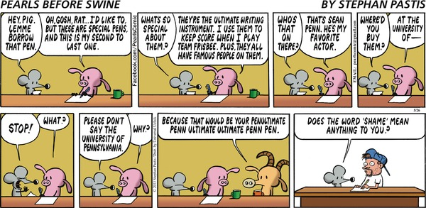 Pens--pearls before swine